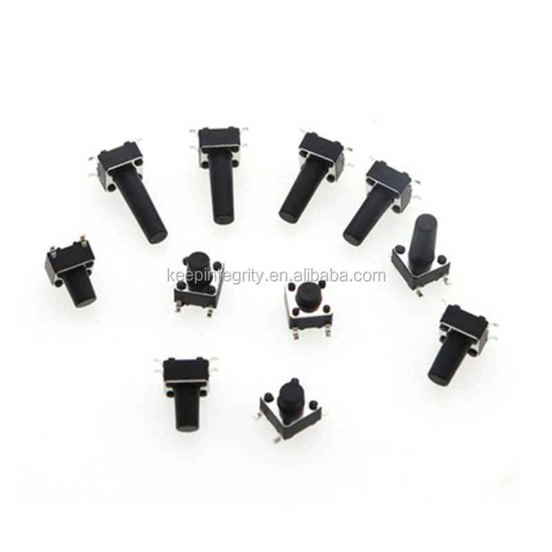 Penjualan Pabrik Mikro Push Button Switch SMD PCB 4Pin 6X6 Taktil Switch