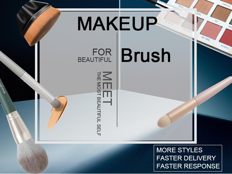 Профессиональная поставка, косметический продукт, одиночная коричневая красота, веер для лица, Кисть для макияжа