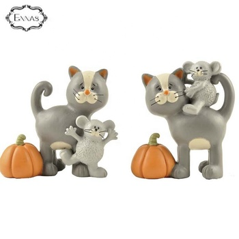 Polyresin animal figurines resin cat figurines christmas cat gift