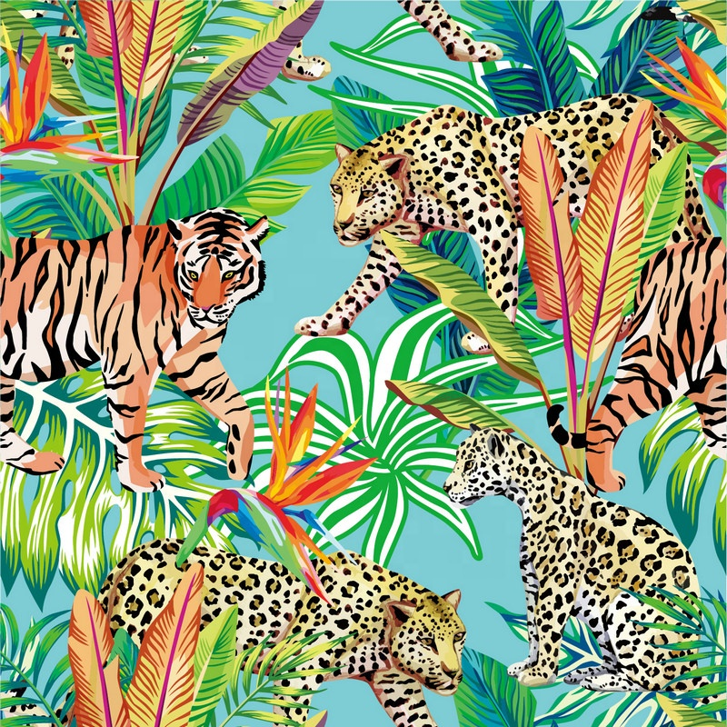 Fonesun-SK609 tiger พิมพ์ผ้าไหม