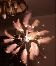 Новый точечный светодиодный медный провод фейерверк перо цвет восемь функций креативный декоративный светодиодный светильник(Китай)
