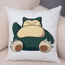 Милый чехол для подушки Pokemon Pikachu для детской комнаты, дивана, домашнего декора, мультяшная аниме подушка, чехол, мягкая плюшевая подушка, чех...(Китай)