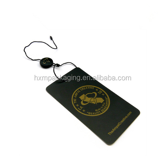 Custom embossied eco friendly hang tag Luxury style hang tag clothes LOW MOQ custom clothing hang tags