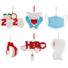 Family Ornament Personalized Personalized Tree Hanging Various Family Christmas Ornaments Quarantine Wholesale 2020 With Facemasks