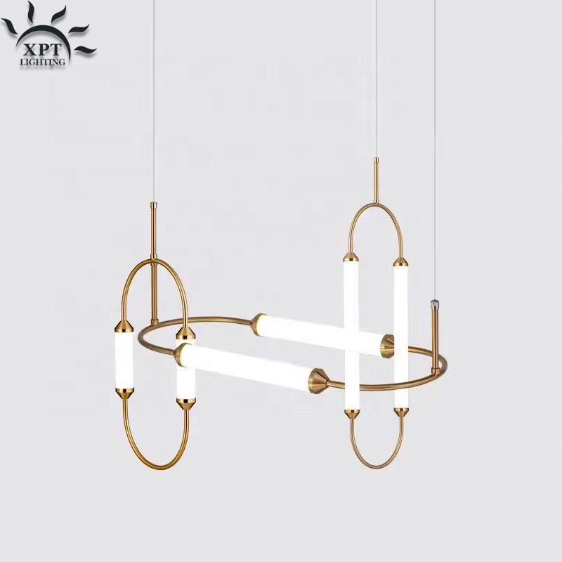 simple modern led glass interior lighting home decoration retail gold pendants lamp