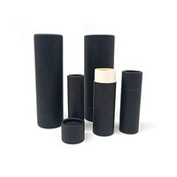 Custom Printing Eco Friendly Cardboard Container Lip Balm Deodorant Black Kraft Push Up Paper Tube