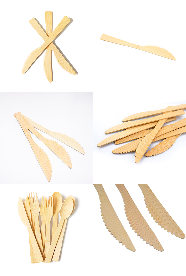 Wholesale Japanese Style Kitchen Biodegradable Bamboo Material Fruit Butter Cutting Knife