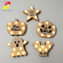 Halloween Speelgoed Decoratie Led Tafelblad Ghost Star Bat <span class=keywords><strong>Pompoen</strong></span>