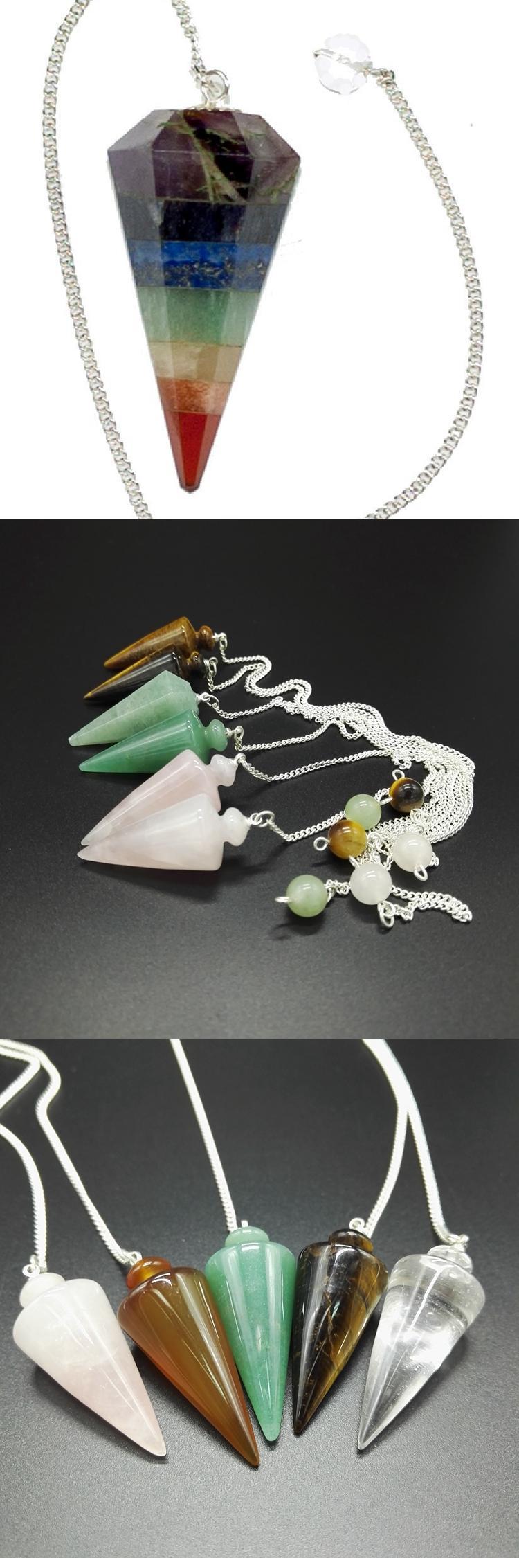 Gift set mixed gemstone pendulum crystal dowsing