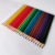 High quality customized brand logo 24pcs wood body material colored lead color pencil set