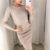 Women Long Sleeve Casual khaki Pullover Sweater Dress Suit Set Spring Autumn Knitted Dresses