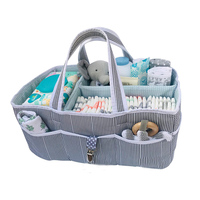 Custom Baby Diaper Caddy Large Organizer Tote Bag for Infant Boy or Girl