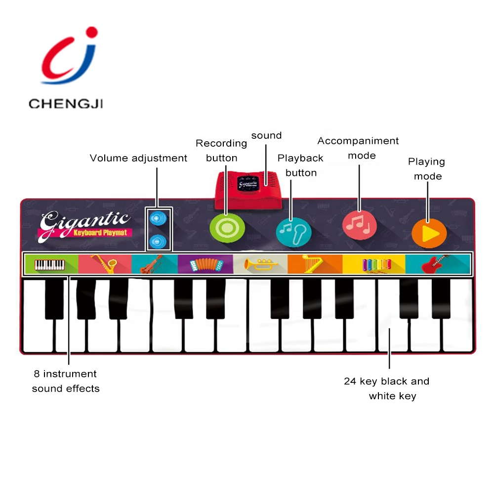 Kids musical dancing learning music instruments floor piano keyboard play mat