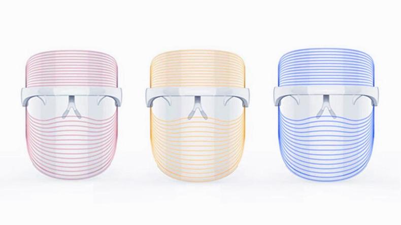 led light machine 3 Colors led therapy mask Beauty Mask PDT Led Facial Machine Light Up led facial light