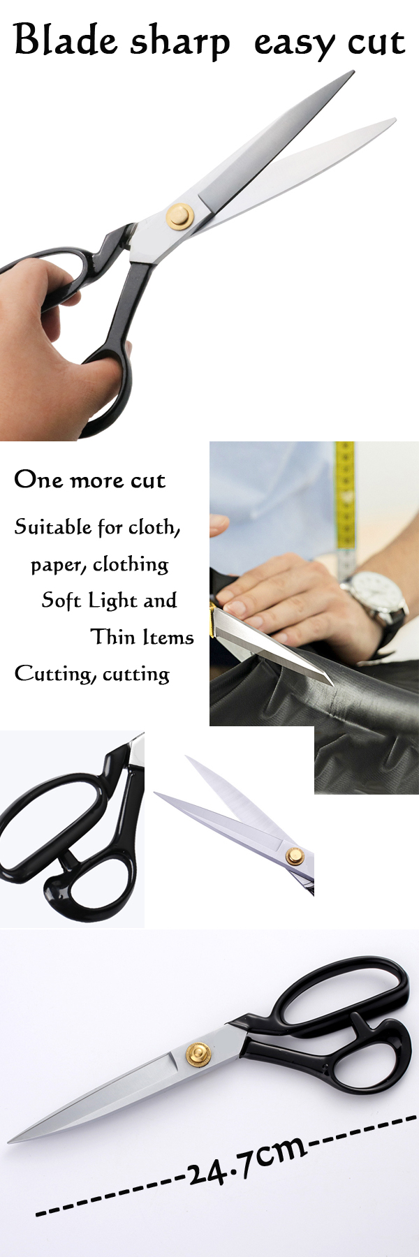 "High quality thread cutting professional 12 "" tailor use sewing scissor"