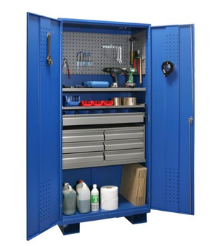 Top Sale And Cheap Workshop Metal Garage Storage Cabinet Steel Tool Cabinet