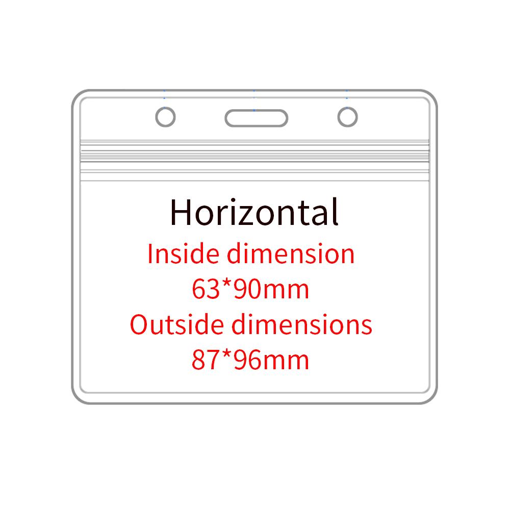 Factory Direct Sale Custom Soft Plastic Transparent Pvc Card Holder Clear Soft Waterproof Id Badge Card Holder