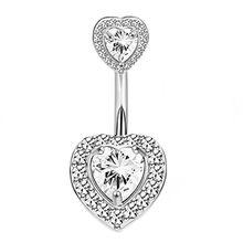 1 шт., кольцо для пирсинга живота из розового золота с кристаллами 14 г, хирургическая сталь, кнопка для пирсинга живота, сексуальный опал, пуп...(Китай)