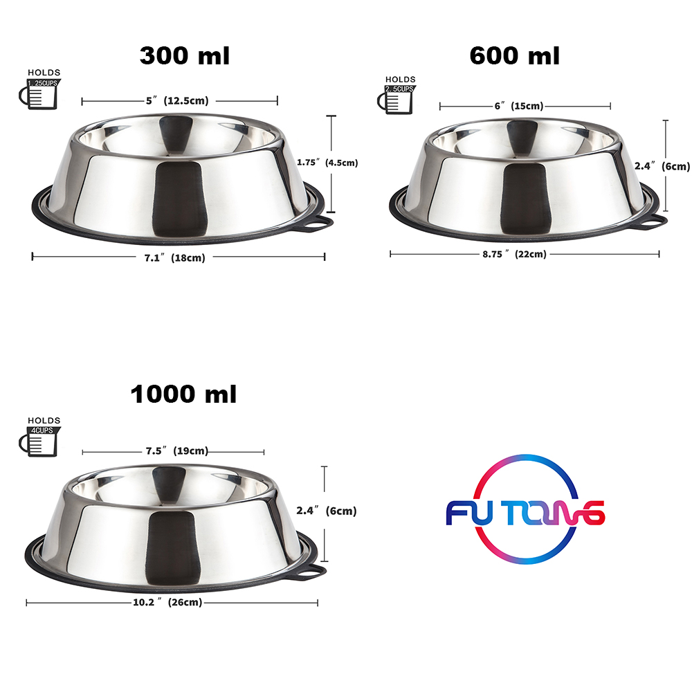 Peggy 11 Patented Product Custom stainless steel Pet food feeder Bowl with Silicone Based Fun Healthy Feeder