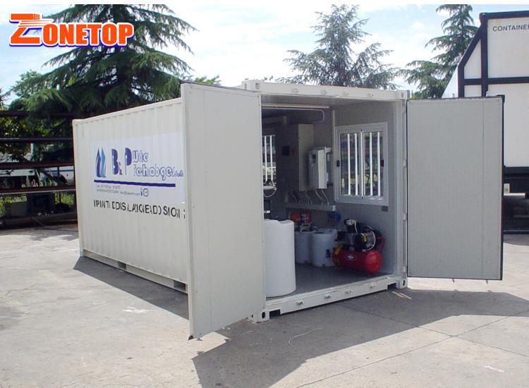 Интеллектуальные модульные мобильные портативные контейнерные подвижные чистые приборы для очистки воды