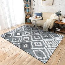 Скандинавские геометрические ковры с ромбовидным узором для спальни, гостиной, украшения дома, современные серые и черные коврики, несколь...(Китай)