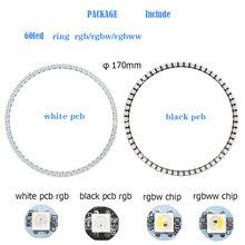 WS2812B полноцветный DIY RGB светодиодный Ring 8-241 пиксель круглый модуль 5050 адресуемых 5 в круг Arduino угол глаз светильник annulus loop(Китай)