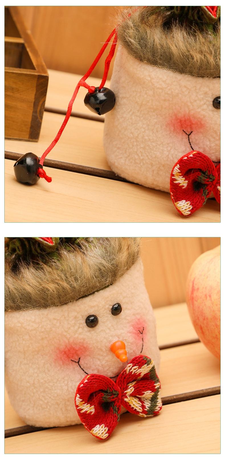 Franela suave caramelo apple bolsa de regalo de Navidad