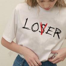 Винтажный Готический летний мягкий наряд для девочек эстетический стиль футболка Графический Harajuku модные футболки Loser Lover женская одежда(Китай)