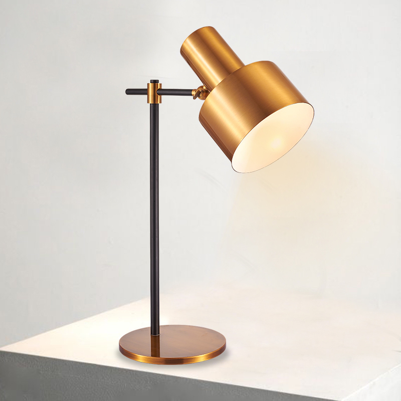 Golden color simple style iron E27 office coffee home working desk lighting