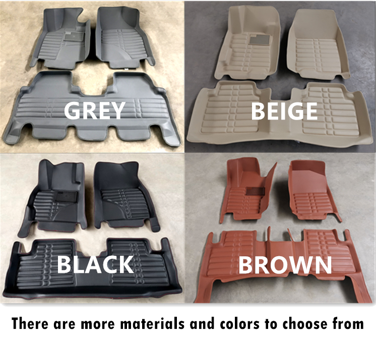 OEM Chinese factory wholesale 5D leather car mats for specific car