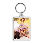 2020 New year gifts Transparent Blank keyring Insert plastic acrylic Photo paper Picture Frame Keyring decor Keychain