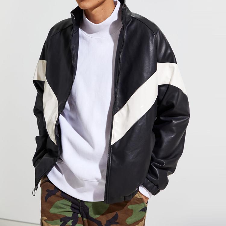Hoge Kwaliteit Lage Prijs Mens Fiets Leer Jacket Custom Goedkope Winter Lederen Jas Voor Mannen