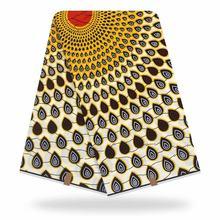 Восковая африканская ткань с принтом для свадебного платья, африканская ткань, 100% хлопок, восковая ткань, 2020(China)