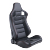 Black PVC Carbon Look With Double Slider And Single Adjustor For Automobile Car Use Sports Racing Seat