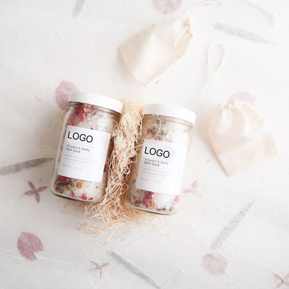 Bath Soak Blend of Epsom and Dead Sea Salt Infused with Lavender Essential Oil - For Stress Relief, Reduce Sore Muscle, Skin Soo