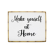 Make Yourself At Home New Design Bedroom Wall Sign Wall Decor Print Metal Bamboo Frame