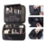 Popular black polyester waterproof custom detachable compartments eva cosmetic foam and eco-friendly eva cosmetic bag supplier
