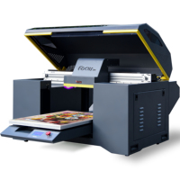 Digital flatbed UV printer A3, uv led curing machine, pvc id card printing