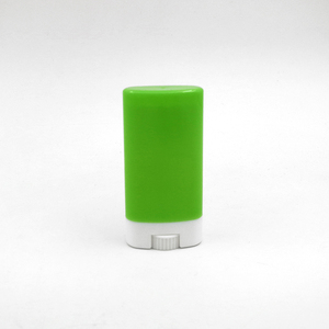 Gloss green mini flat deo-stick container for balm packaging 15g
