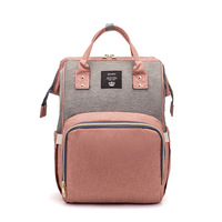 wholesale custom large capacity pink adult baby backpack mens and women mommy diaper bag