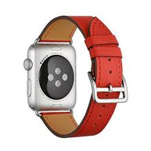 Кожаный ремешок для Apple watch 5 ремешок 44 мм 40 мм iWatch ремешок 38 мм 42 мм Натуральная кожа одиночный тур Браслет Apple watch 4 3 2 1 44(Китай)