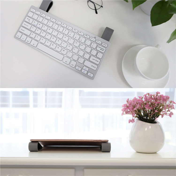 Black 4 Pack Portable Universal Laptop Stands Lightweight Stable Kickstand for Laptop//Tablet//Keyboard Anti-Slip Durable Silicone Elevation Stand