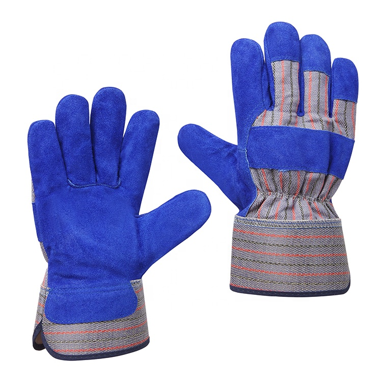 Top quality cow split leather heat resistant safety working hand protective gloves manufacturer
