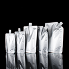 Foil Spout Pouches For Oil Mylar Aluminum Foil Spout Pouches Flask Bag For Wine Oil Sauce Detergent Shampoo