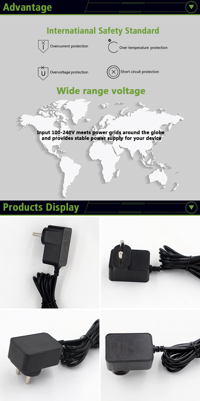 5V 1A 1000MA USB Power Adaptor Dipertukarkan Plug AC DC Adapter