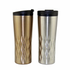 New diamond vacuum insulation travel mug stainless steel tumbler metal coffee cup