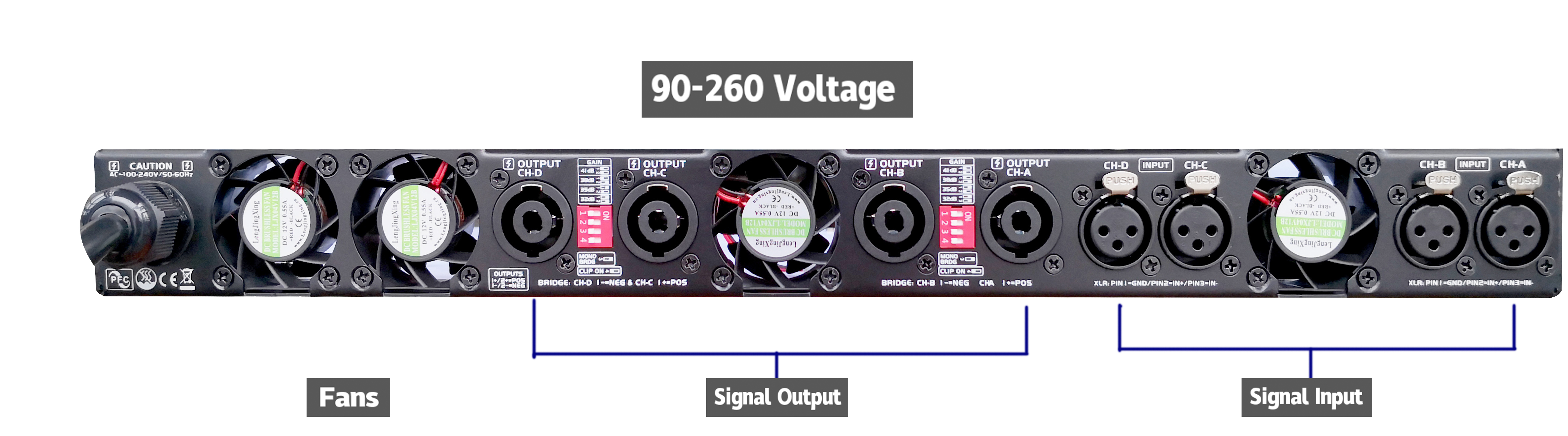 3000w 1U Digital Power Verstärker K30