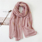 2019 Best Selling Cotton And Linen Arab Feather Embroidery Scarf Women