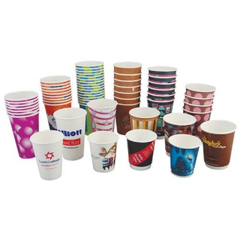 Wholesale 4/6/8/10/12/16 oz Customized Logo Eco-friendly Paper cup disposable coffee cups with Lid