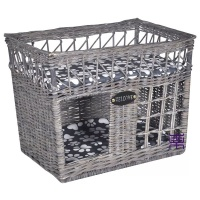 Willow Basket For Cat Large House Indoor Bed Hideaway Wicker Woven Den With Snuggle Cushion